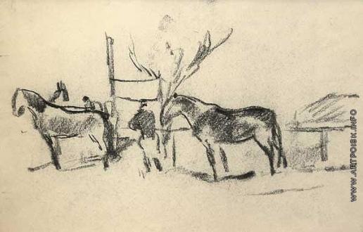 Герасимов С. В. Наездник с лошадьми