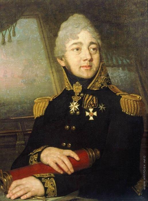 Боровиковский В. Л. Портрет И.А. Баратынского, капитана-командора