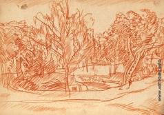 Герасимов С. В. Летний пейзаж. (с рисунком для журнала «Маковец»)