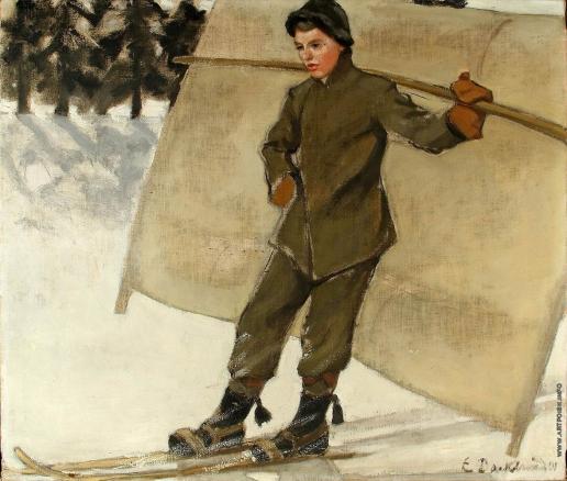 Баклунд Э. О. На лыжах