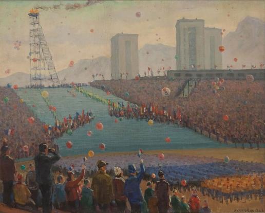 Лучишкин С. А. X зимние Олимпийские игры. Олимпийский огонь загорелся. Гренобль