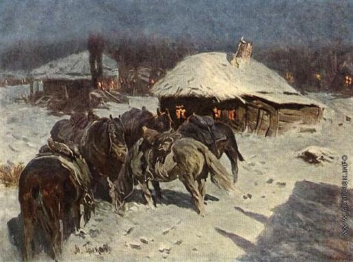 Греков М. Б. На другой день в станице Платоновской