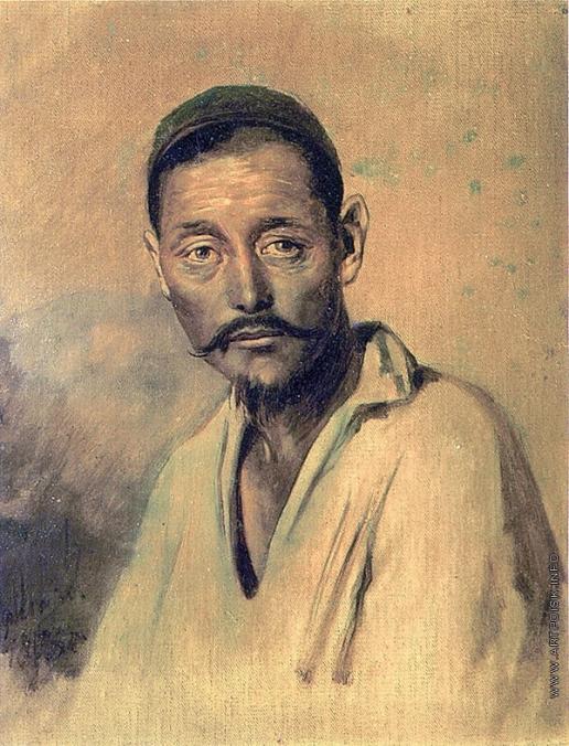 Перов В. Г. Голова киргиза. Этюд для картины «Суд Пугачева»