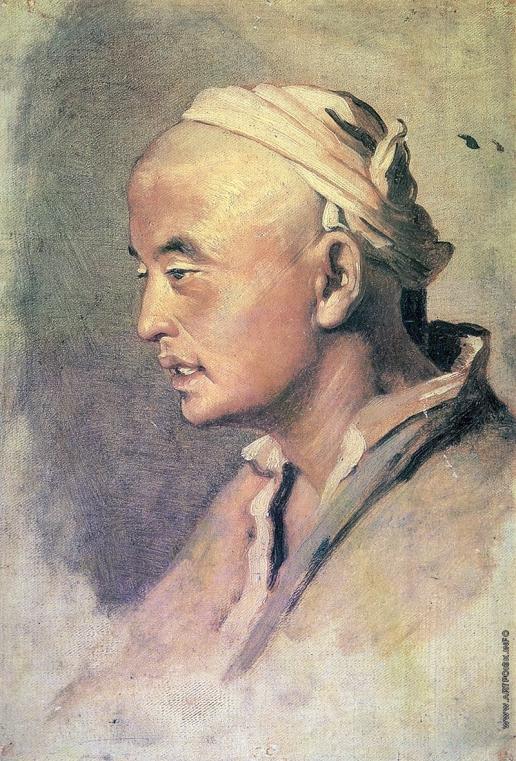 Перов В. Г. Голова киргиза. Этюд