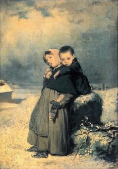 Перов В. Г. Дети-сироты на кладбище