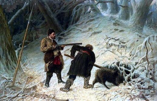 Перов В. Г. Охота на кабана