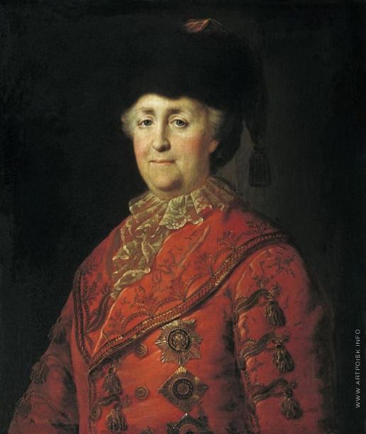 Шибанов М. Портрет Екатерины II в дорожном костюме