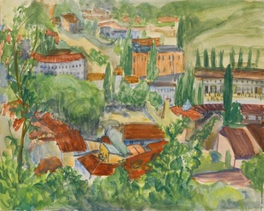 Штеренберг Д. П. Красные крыши. Южный город