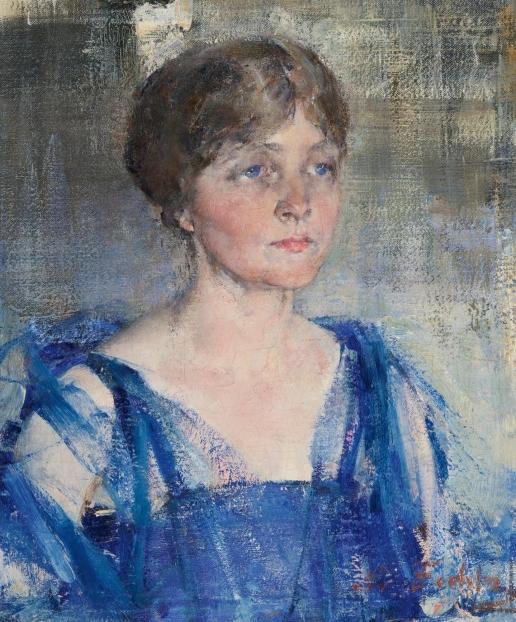 Фешин Н. И. Портрет женщины в синем