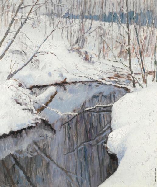 Богданов-Бельский Н. П. Ручей зимой