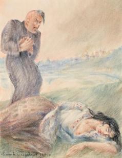 Пожедаев Г. А. Иллюстрация к роману «Мертвые души»