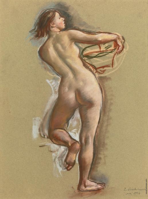 Серебрякова З. Е. Танцующая обнаженная