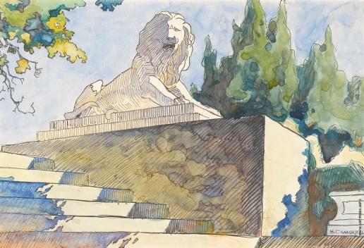 Самокиш Н. С. Лев в Воронцовском дворце