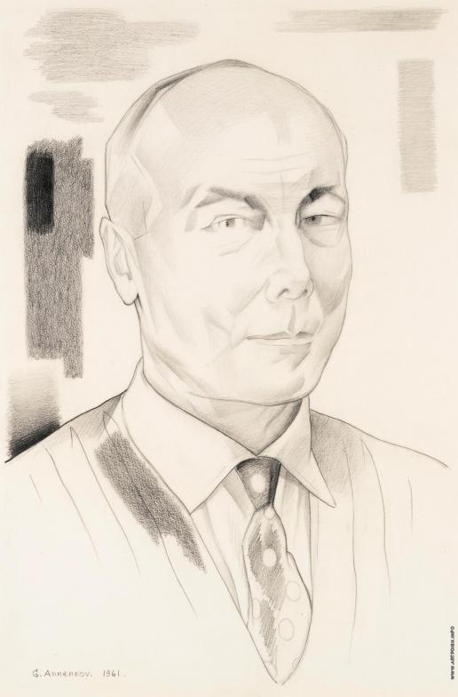 Анненков Ю. П. Портрет Валерия Ивановича Инкижинова
