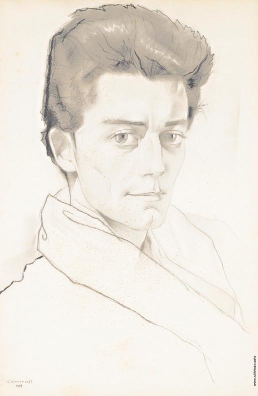Анненков Ю. П. Портрет Жерара Филипа