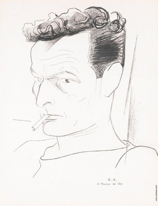 Анненков Ю. П. Портрет Жана-Луи Барро