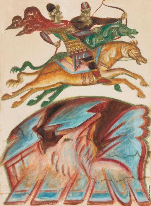 Стеллецкий Д. С. Воины на конях. «Слово о полку Игореве»