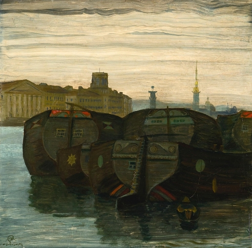 Добужинский М. В. Корабли на Неве