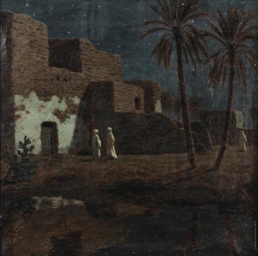 Шультце И. Ф. Каир ночью
