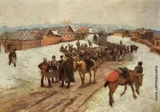 Греков М. Б. Вступление полка имени Володарского в Новочеркасск в 1920 году