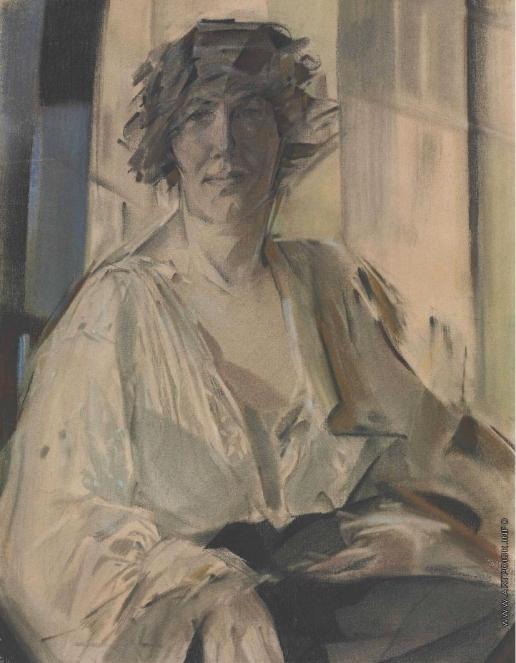 Чехонин С. В. Портрет жены художника. Лидия Вычегжанина
