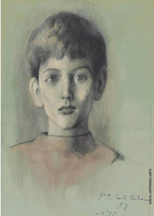Челищев П. Ф. Портрет молодого Оболенского