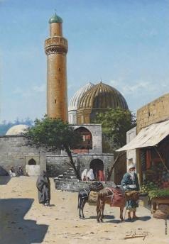 Зоммер Р. К. Мечеть в Баку