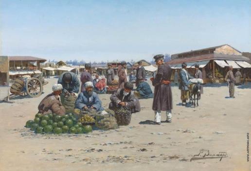 Зоммер Р. К. Базар в Дагестане