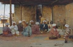 Зоммер Р. К. Чайхана в Туркестане
