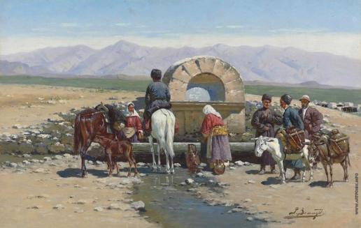 Зоммер Р. К. У колодца. Кавказ