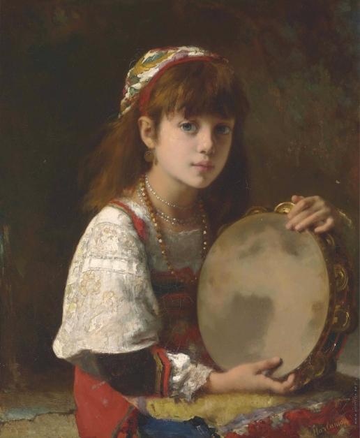 Харламов А. А. Девушка с бубном