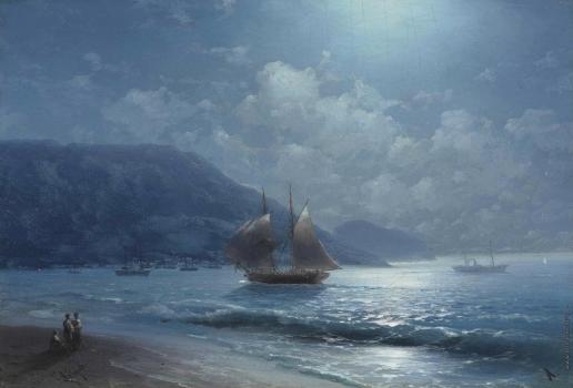 Айвазовский И. К. Побережье близ Ялты при лунном свете