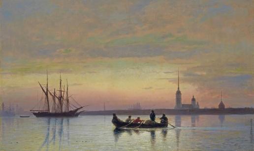 Лагорио Л. Ф. Сумерки на Неве. Санкт-Петербург