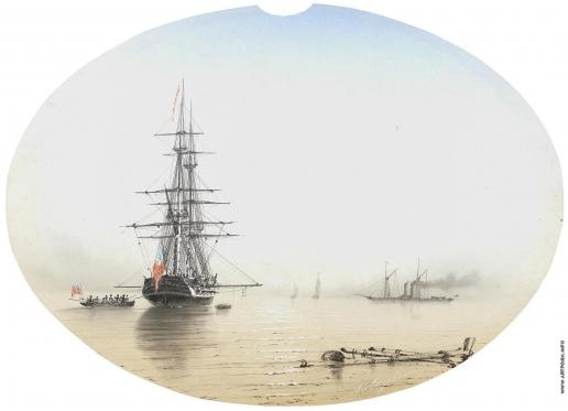 Айвазовский И. К. Корабли на рассвете