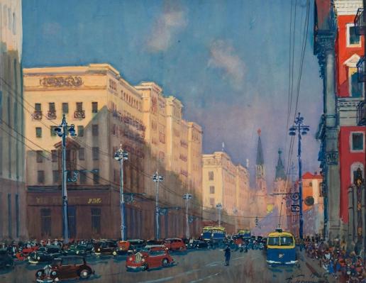 Герасимов А. М. Улица Горького
