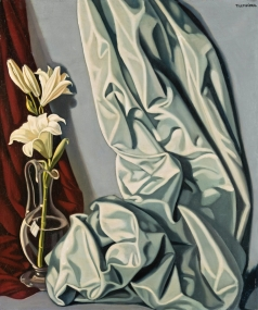 Лемпицка Т. Б. Натюрморт с лилиями и серой драпировкой