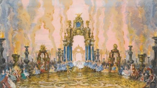 Бенуа А. Н. Эскиз декорации