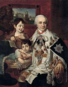 Боровиковский В. Л. Портрет графа Григория Григорьевича Кушелева с детьми