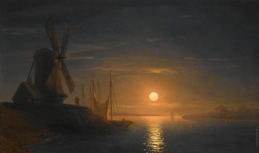 Айвазовский И. К. Лунный свет над Днепром