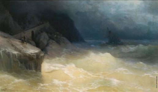 Айвазовский И. К. Кораблекрушение у побережья Черного моря