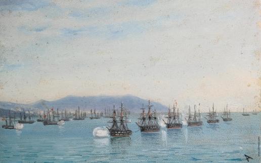 Айвазовский И. К. Военно-морской парад  у Одессы