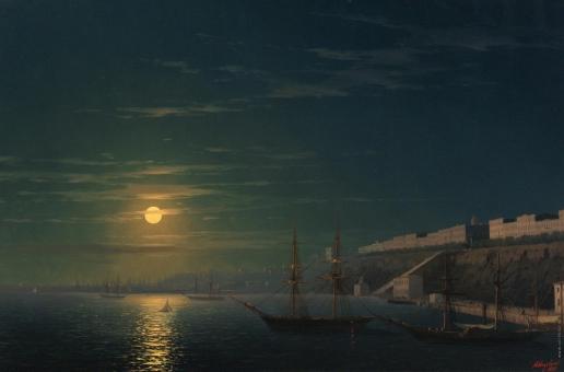 Айвазовский И. К. Вид Одессы в лунную ночь