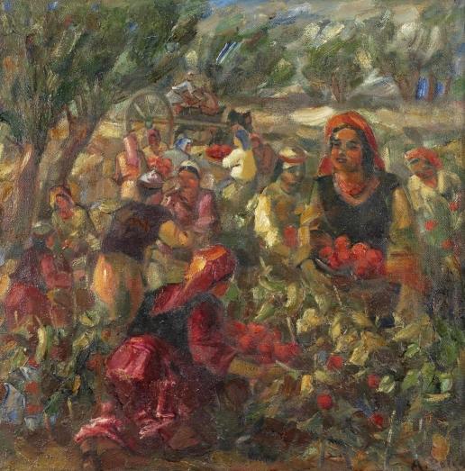 Волков А. Н. Томатный урожай. (Сбор помидоров)