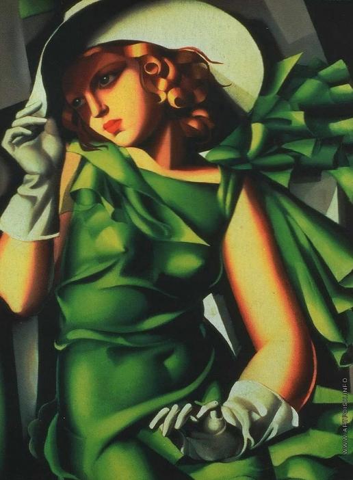 Лемпицка Т. Б. Девушка в зеленом. (Девушка в перчатках)