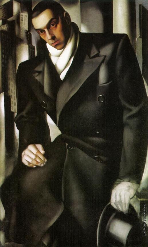 Лемпицка Т. Б. Мужской портрет. (портрет  Тадеуша Лемпицкого, первого мужа)