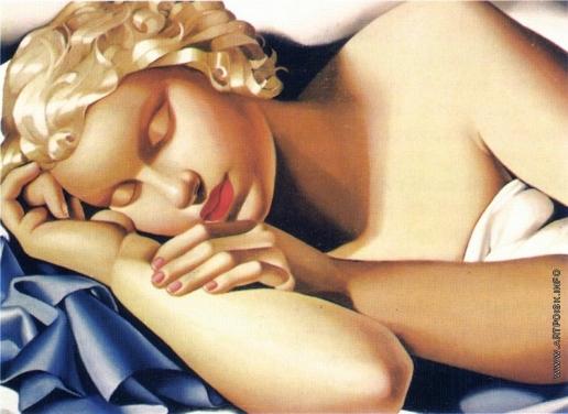 Лемпицка Т. Б. Спящая девочка. (Кизетта)