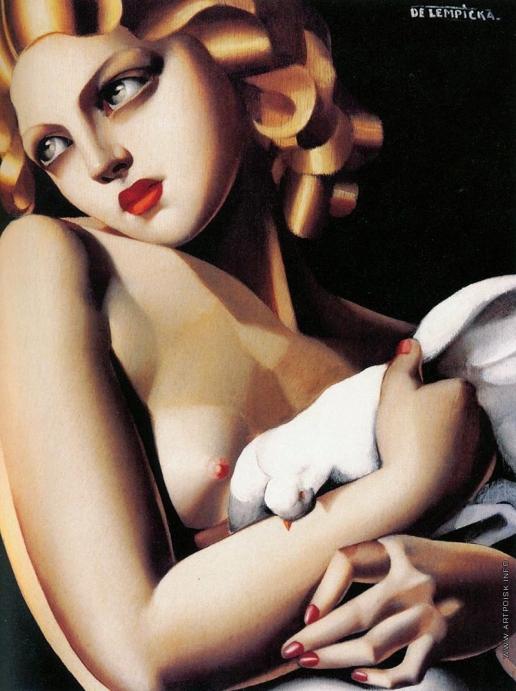 Лемпицка Т. Б. Женщина с голубем