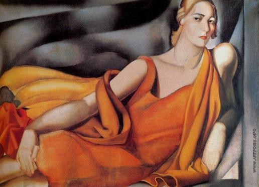 Лемпицка Т. Б. Женщина в желтом платье