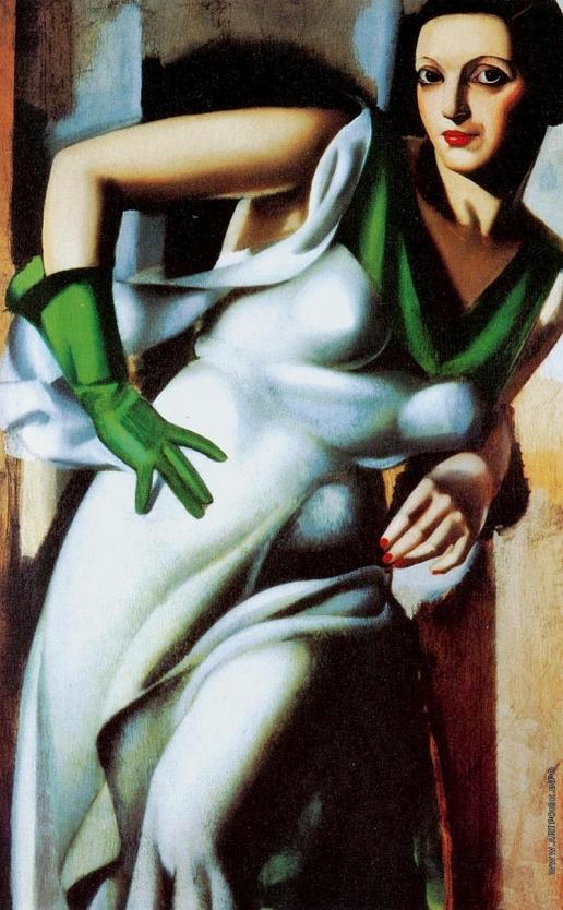Лемпицка Т. Б. енщина в зеленой перчатке