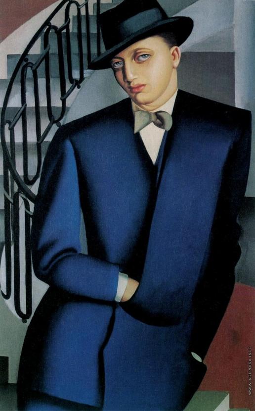 Лемпицка Т. Б. Портрет маркиза Д'Аффлито. (На лестнице)